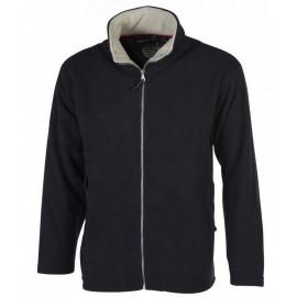 Men Fleece Jacket Full Zip Black Pen Duick