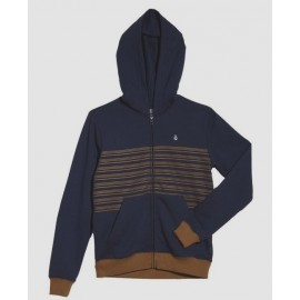 Sweat Volcom Junior Threezy zip Deep Blue