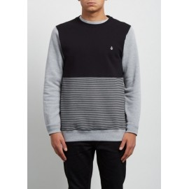 Sweat Volcom Homme 3ZY Crew Heather Grey