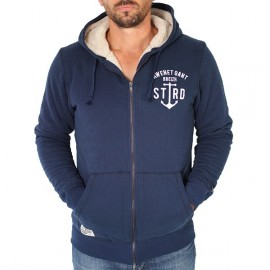 Men's Sherpa Lined Sweatshirt STERED Anchor Navy