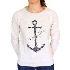 Women's Sweater Stered Anchor Ecru