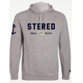 Hooded Sweatshirt Stered Heather Grey Feutre