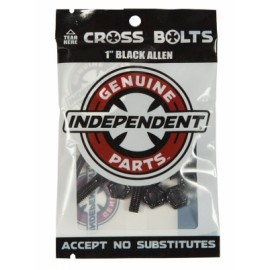 "Set of Independent Screw 1"" Allen Black"