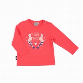 Tee Shirt Baby Girl Long Sleeves A L'Ease Breizh Battany Rose