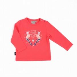 Tee Shirt Bébé Fille Manches Longues A L'Aise Breizh Battany Rose