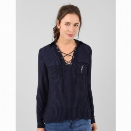High Blouse A L'Aise Breizh Doris Striped Navy