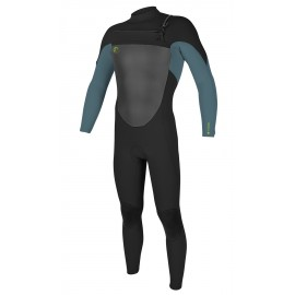 O'Neill Junior Wetsuit O'Riginal Front Zip 5/4mm Black Dusty Blue Dayglo
