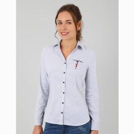 Women's Shirt A L'Aise Breizh Coralie Rayé Marine