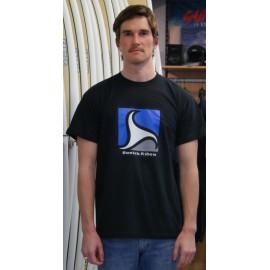 Tee Shirt Homme BREIZH RIDER Trez Noir et Bleu