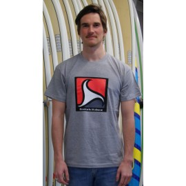 Men's Tee Shirt BREIZH RIDER Trez Heather Grey Black and Red