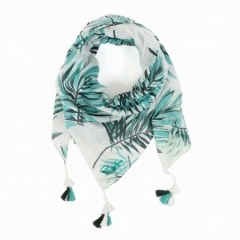 Scarf Woman A 'Aise Breizh Dartique Palmier White