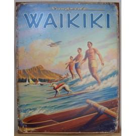 Plaque Metal Waikiki
