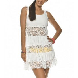 Beach dress BANANA MOON Dandy Seethrough White