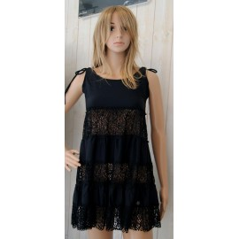 Robe de Plage BANANA MOON Dandy Seethrough Noir