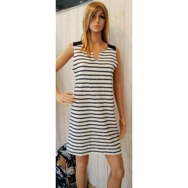 BANANA MOON Bloomfield Striped Navy Dress