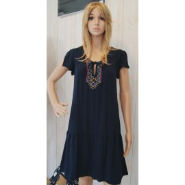 Banana Moon Shala Buenavist Dress Dark Blue