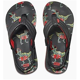 REEF Child Sandal AHI Red T-Rex