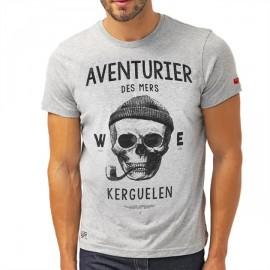 Men's Tee Shirt Stered Aventurier Des Mers Heather Grey