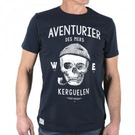 Men's Tee Shirt Stered Aventurier Des Mers Navy