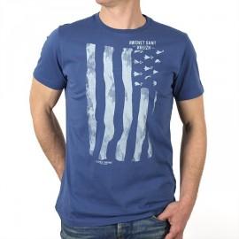 Tee Shirt Homme Stered Flag Gwenn Ha Du Bleu Tempête