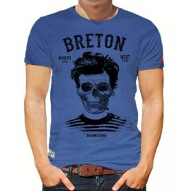 Tee Shirt Homme Stered Breton Bev Atav Bleu Tempête