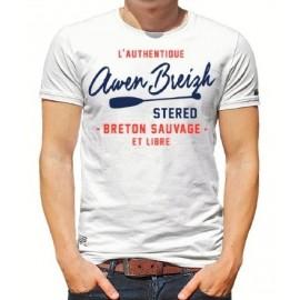 Tee Shirt Homme Stered Awen Breizh SUP Blanc