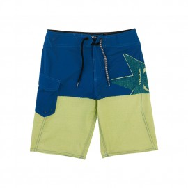 Boardshort Volcom Junior Lido Block Mod Shadow Lime