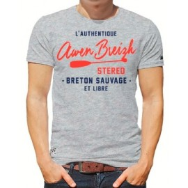 Men's T-Shirt Stered Awen Breizh SUP Heather Grey