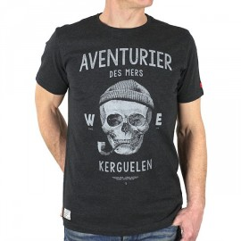 Men's Tee Shirt Stered Aventurier Des Mers Charcoal Grey