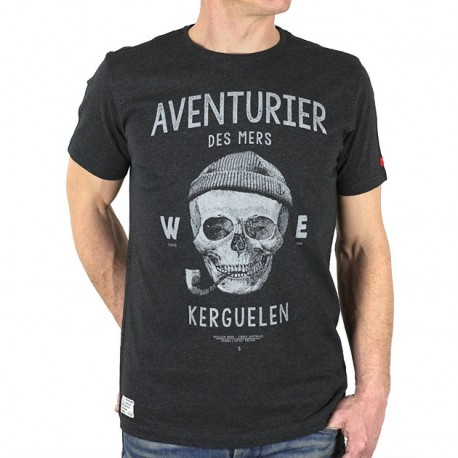 Tee Shirt Homme Stered Aventurier Des Mers Gris Anthracite
