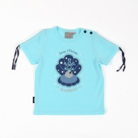 Tee Shirt Baby Girl Aise Breizh Bellyn Mint