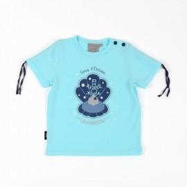Tee Shirt Bébé Fille A L'Aise Breizh Bellyn Menthe