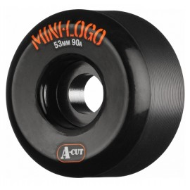 Mini Logo Hybrid Wheels A Cut 53mm 90A Black