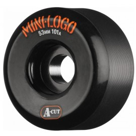 Roue Mini Logo A Cut 53mm Black