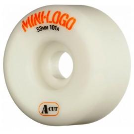 Mini Logo Wheels A Cut 53mm White