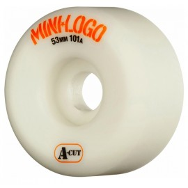 Roue Mini Logo A Cut 53mm White