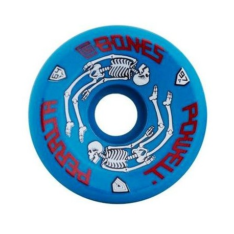 Powell Peralta G-Bones Skate Wheels Blue 64mm
