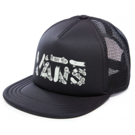 Vans Logo Trucker Black Glow Junior Cap