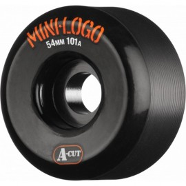 Roue Mini Logo A Cut 54mm Black