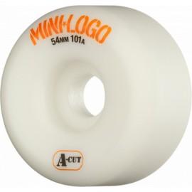 Roue Mini Logo A Cut 54mm White