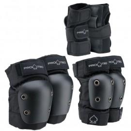 Pro Tec Pads Street Gear Junior Medium 3 Pack Black