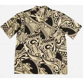 Chemise Aloha Republic Tattoo Black