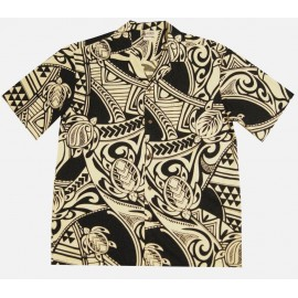 Chemise Aloha Republic Tattoo Black