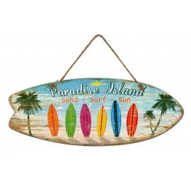 WOOD PARADISE ISLAND painting