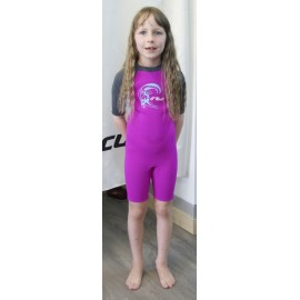 Shorty O'Neill Toddler Reactor Girl 2/2mm Berry Light Aqua