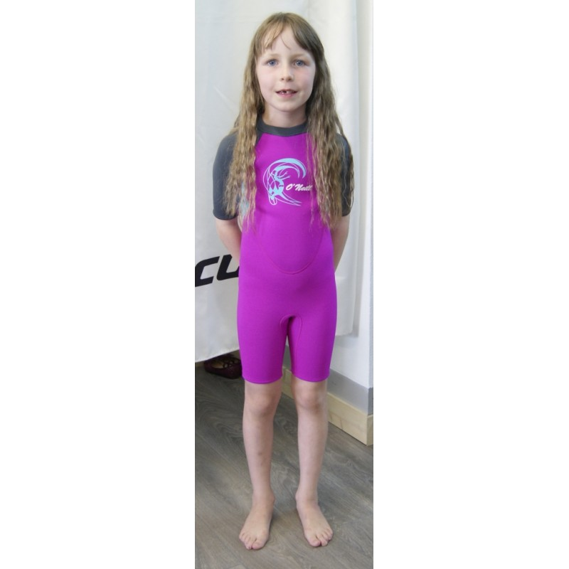 Shorty O Neill Toddler Reactor Girl Berry Light Aqua - Breizh Rider bfcfd1e77