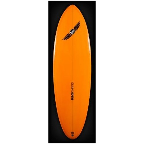Surf Black Wings Retro Single 6'0