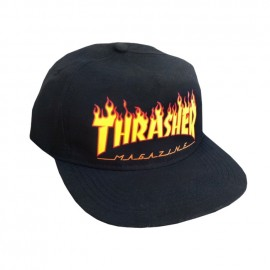 Thrasher Flame Snapback Black Cap