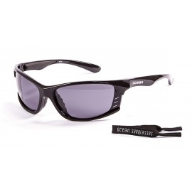 Floating Ocean Sunglasses Cyprius Smoke Shiny Black