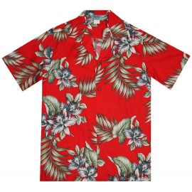 Aloha Republic Red Flower Shirt